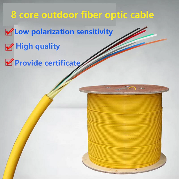 Indoor 8 Core Fiber Optic Cable , Single Mode Fiber Optic Light Cable PVC LSZH