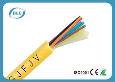China Indoor 8 Core Fiber Optic Cable , Single Mode Fiber Optic Light Cable PVC LSZH supplier