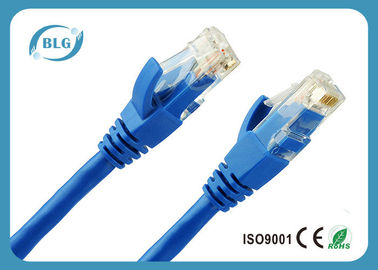 China Solid Copper Blue Cat6 UTP Patch Cable For Horizontal Communication 100M supplier