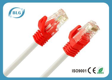 China OFC Cat5e UTP Patch Cord 4 Twisted Pairs / BC CCA Red Cat5e Patch Cable supplier