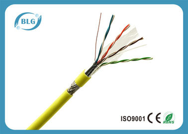 China Double Shielded Indoor Ethernet Network Cable / Yellow Cat5e Network Cable supplier