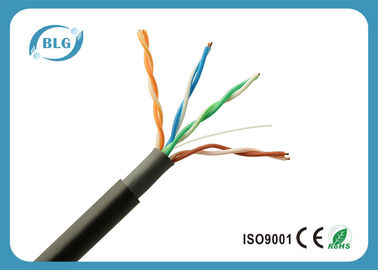 China Black Super Long Outdoor Ethernet Lan Cable With UV Resistant PVC Jacket supplier