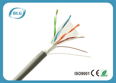 China High Performance FTP Cat5e Computer Network Cable With Polyester Tape Black supplier