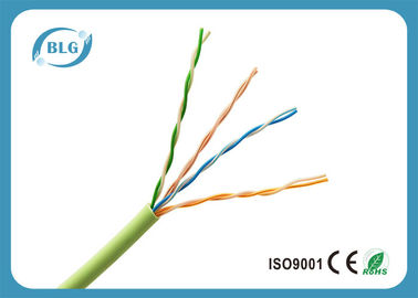 China 0.5mm Bare Copper UTP Cat5e Lan Cable For Indoor Use PVC Jacket Weatherproof supplier