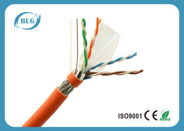 China 23AWG Solid Full Copper Cat6 Cable Bulk , Network Communication Cat 6 Ethernet Cable supplier