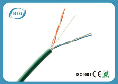 China 2 Pairs 4 Cores UTP Telephone Line Cable With 24AWG Bare Copper Conductor supplier