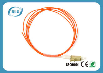 China Simplex Single Mode Fiber Optic Patch Cord Low Insertion Loss 0.9mm supplier