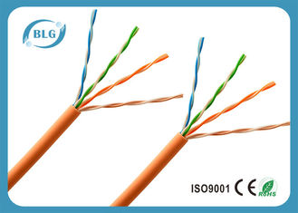 China Networking LSZH Jacket Category 5e Cable , 26AWG BC / CCA Cat5e UTP Cable supplier
