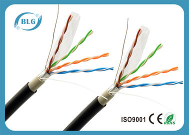 China Al - Foil Shielded Cat5e Ethernet Lan Cable For Exterior Using Waterproof supplier