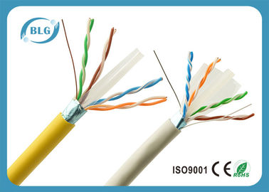 China High Speed Yellow Cat6 LAN Cable With F / UTP – Foiled Shielded 1000 FT supplier