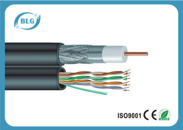 China Multi Function Low Loss Coaxial Cable , CCTV Camera Coaxial Audio Cable supplier