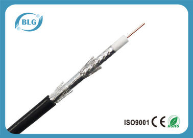 China Tri Shield Digital Flexible Coaxial Cable For TV Foam Polyethylene Insulation supplier