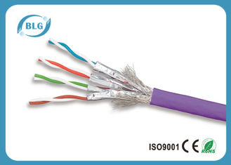 China SSTP Fastest Ethernet Cable Cat 7 / Lan Cable Category 7 1 Gigabit 10 Gigabit supplier