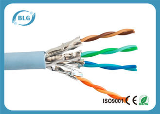 China 26AWG Stranded BC Cat6a Lan Cable With Aluminum Foil Shielded High Speed supplier