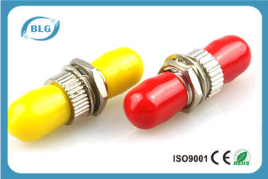 China Red Or Yellow Fiber Optic Connector Adapters With Brozen Sleeve Low Repeatibility supplier