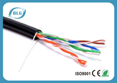 China Unshield Category 5e Ethernet Cable 8 Cores 4 Pairs HDPE Insulated Bare Copper supplier