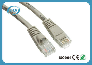 China Unshielded UTP Patch Cord Copper / CCA Wire RJ45 Male Connectors With Short Body supplier