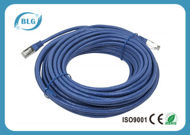 China Customized Shielded Patch Cable RJ45 Male Plugs Cat6 FTP Lead 6.6FT BC / CCA Conductor supplier