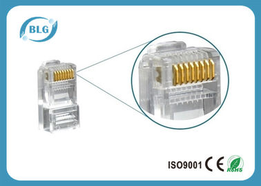 China Cat6 Ethernet Connector Network Cable Accessories 8P8C Unshield RJ45 Male Plug supplier