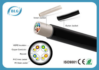 China Durable Outdoor Category 6 Ethernet Cable 8 Cores Full Copper 1000FT Single PE Jacket supplier