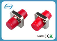 Simplex Square Fiber Optic Connector Adapters For Telecommunications Corrosion Resistant
