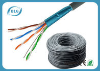 China PVC Jacket Cat5e Lan Cable 1000ft Shielded 24AWG FTP Network Wire HDPE Insulation factory
