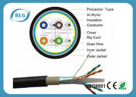 Dual Layer Jacket Cat6 LAN Cable Outdoor FTP Al Foil Shielded PVC PE Material