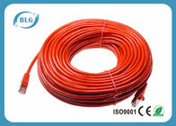 China Red Shield Cat6 STP Patch Cable BC CU / CCA Conductor With 8P8C RJ45 Connectors factory