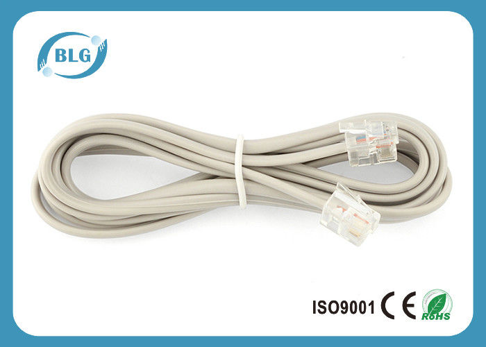 rj11 to rj11 plugs telephone cable wire , internet phone cable 7 foot bare  copper