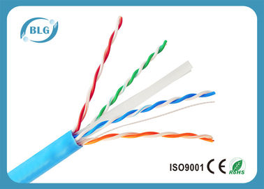 China Ethernet UTP Cat6 Lan Cable With 8 Cores 23AWG Solid 0.57mm Bare Copper factory