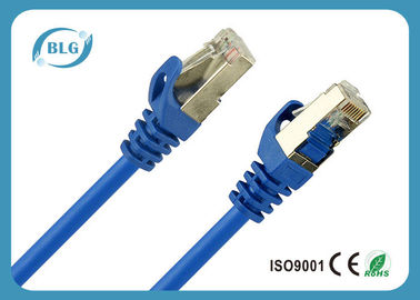 Blue Shielded Cat5e Patch Cable , 568B Cat5e Shielded Twisted Pair Cable