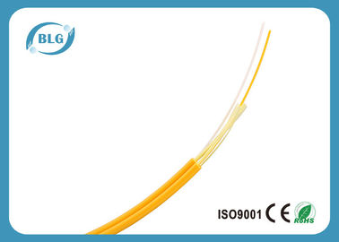 SM Multimode Duplex 2 Fiber Optic Cable 1000 Feet , Yellow Fiber Optic Audio Cable