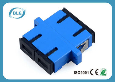 China Blue Dulplex Fiber Optic Cable Accessories Adapter For FTTH Network System distributor