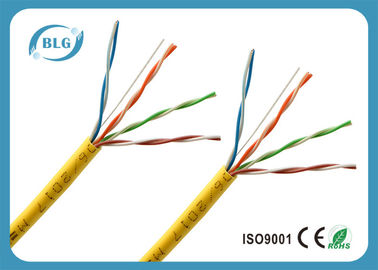 China Long White Cat5e Ethernet Cable / Solid 4 Pairs Copper Internet Cable Wire factory