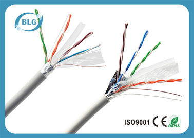 China 100% Copper Conductor FTP Cat6 Lan Cable 4 Pairs Low Resistance Data Transmission Cabling factory