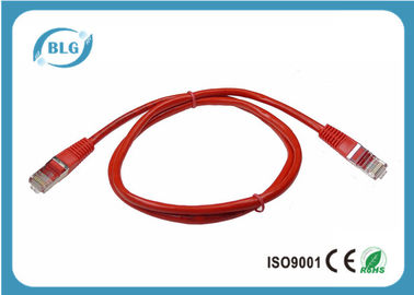 Ethernet Network Red STP Patch Cable For Carrying Telephone Signals 350 MHz