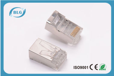 China RJ Plug 8P8C Cat5e FTP Network Cable Accessories Golden Plated 3 Plong RJ45 Connector distributor