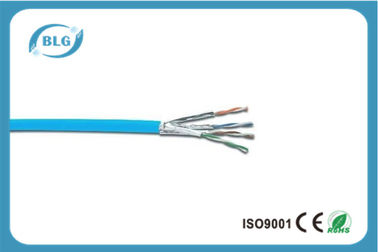 China 23AWG Cat6a Ethernet Cable / Cat6a External Cable Support 10G Network distributor