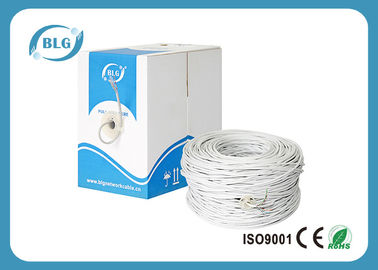 China 0.5mm Conductor Cat6 Lan Cable , 4 Pairs UTP Ethernet Cable For Indoor factory