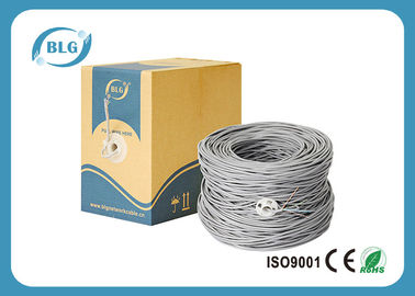 China Twisted Pairs Cat6 Lan Cable , 1000ft Shielded FTP Lan Cable With 5.8mm PVC Jacket factory