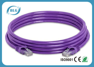 China Stranded 30AWG UTP Patch Cord , Cat6 Ethernet Patch Cable For Computer distributor