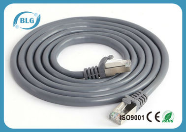 50U Gold Plated FTP Patch Cord PVC Jacket For Computer Network Communication