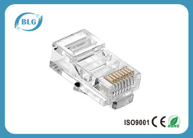 China PC Housing Network Cable Accessories UTP 8P8C RJ45 Male Connector Gold Plated Contact Blade distributor