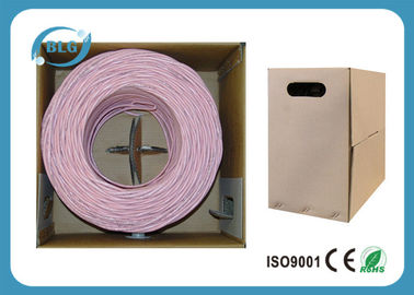 China 4 Pairs UTP Cat6 Lan Cable Wires Easy Pull Box 1000FT Black White Blue PVC Jacket factory