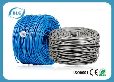 China 500/1000FT Cat6 Utp Network Cable Pure Bare Copper CM CMX Unshielded UTP Cabling distributor
