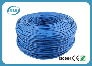 China Networking Cat 6 Network Cable 1000 FT 4 Pairs Unshield BC / CCA Customized Color distributor