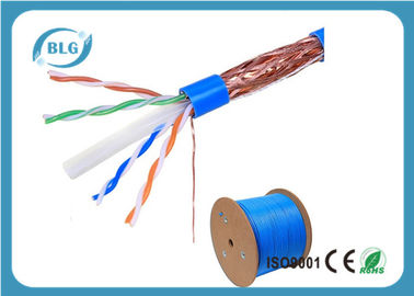 China STP Cable Ethernet Cat 6 8 Conductor Solid Bare Copper 23 AWG 550mHz PVC Jacket 1000'' Feet distributor