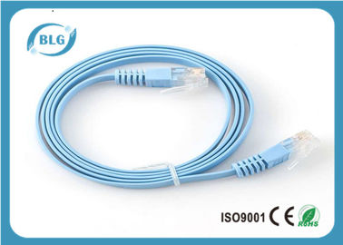 China UTP Flat Patch Cable CAT6 Stranded 32AWG Copper 8 Core Conductors PVC Jacket distributor