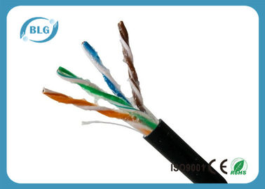 China Outdoor Cat5e Lan Cable , Computer Cat5e Network Ethernet Cable UTP With Oil 1000FT distributor