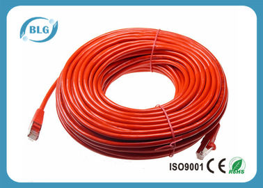 China Red Shield Cat6 STP Patch Cable BC CU / CCA Conductor With 8P8C RJ45 Connectors distributor